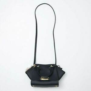 Zac Posen Eartha Iconic Mini Double Handle Navy Blue Top