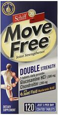 Move Free Double Strength Glucosamine Chondroitin 120 tablets  exp 02/19