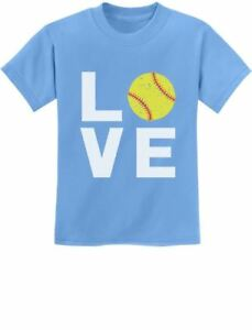 8e8cc102 Love Softball - Gift for Softball Fans Youth Kids T-Shirt Softball ...
