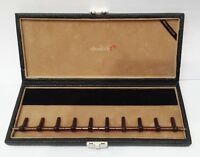 Oboes.ch 10 Oboe Woodwind Reed Case Black Leather & Camel Brown made In Europe