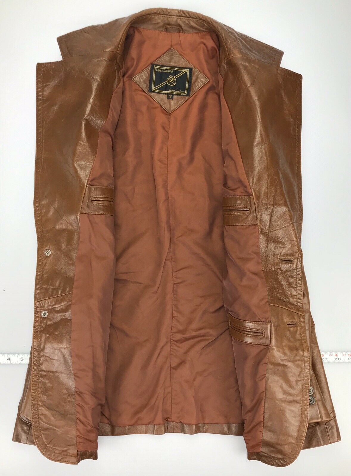 Mens 42 Vintage Lance Limited Classic 1970s Brown… - image 2