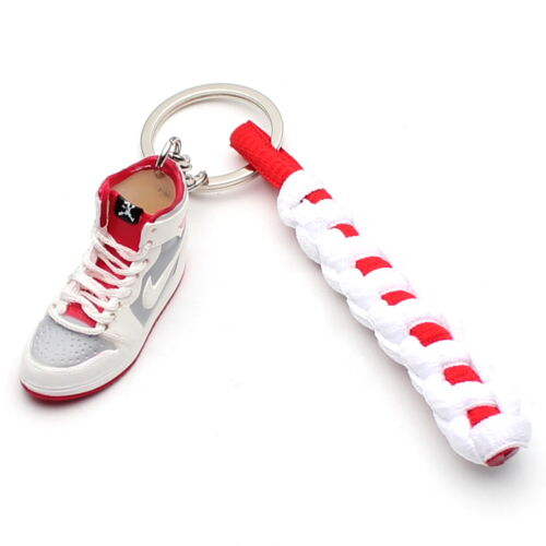 3D Mini Sneaker Shoes Keychain Retro Hare With Strings for Air Jordan 1