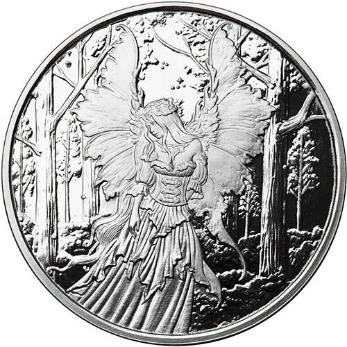 Amy Brown Collection Lady Of The Forest 1 oz .999 Silver Proof Round USA Coin