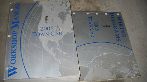 2005 Lincoln Town Car Service Shop Workshop Repair Manual Set W Wiring Diagram