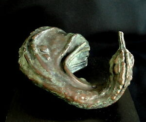 Bronze-Lost-Wax-Cast-034-Gourd-034-Original-Decorative-Sculpture-Fine-Art