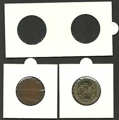 Other Coin & Money Supplies Practical Coin Holders 2 X 2 Self Adhesive 27mm $1 & 1/2d Size X Bundle Of 100 Holders Selling Well All Over The World