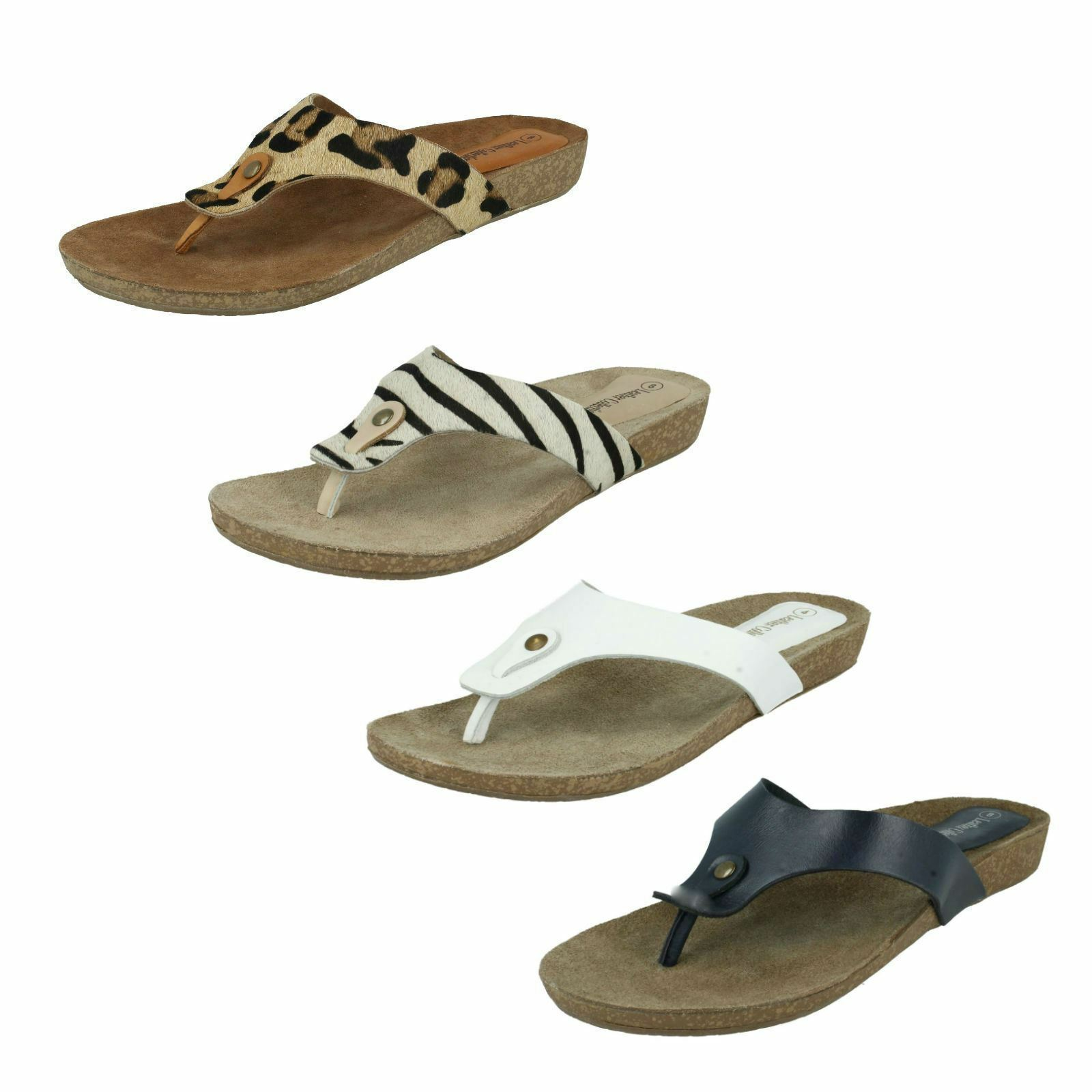 Ladies Leather Collection Toe 3 Post Sandals UK Sizes 3 Toe - 8 F10500 3bd4aa