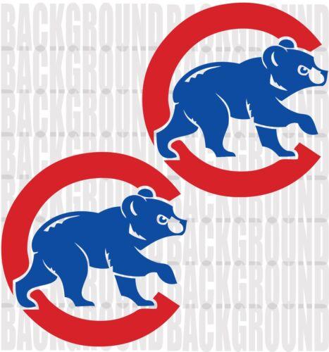 2 CHICAGO CUBS 11 x 11.5 Cornhole Decals LARGE Bean Bag Toss Sticker Baggo