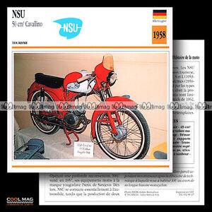 096-07-NSU-50-CAVALLINO-1958-Cyclo-Moped-Fiche-Moto-Motorcycle-Card