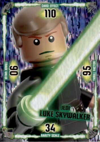 3-Jedi Luke Skywalker-Jedi-Lego Star Wars cartes de collection série 1