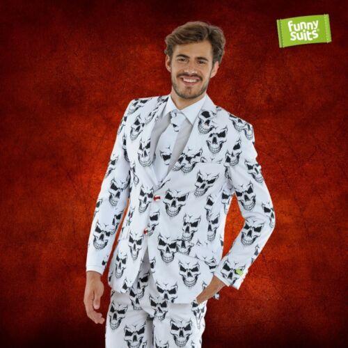 Schädel Totenkopf Anzug Evil Grin 3-teiliger Anzug Kostüm deluxe EU SIZES