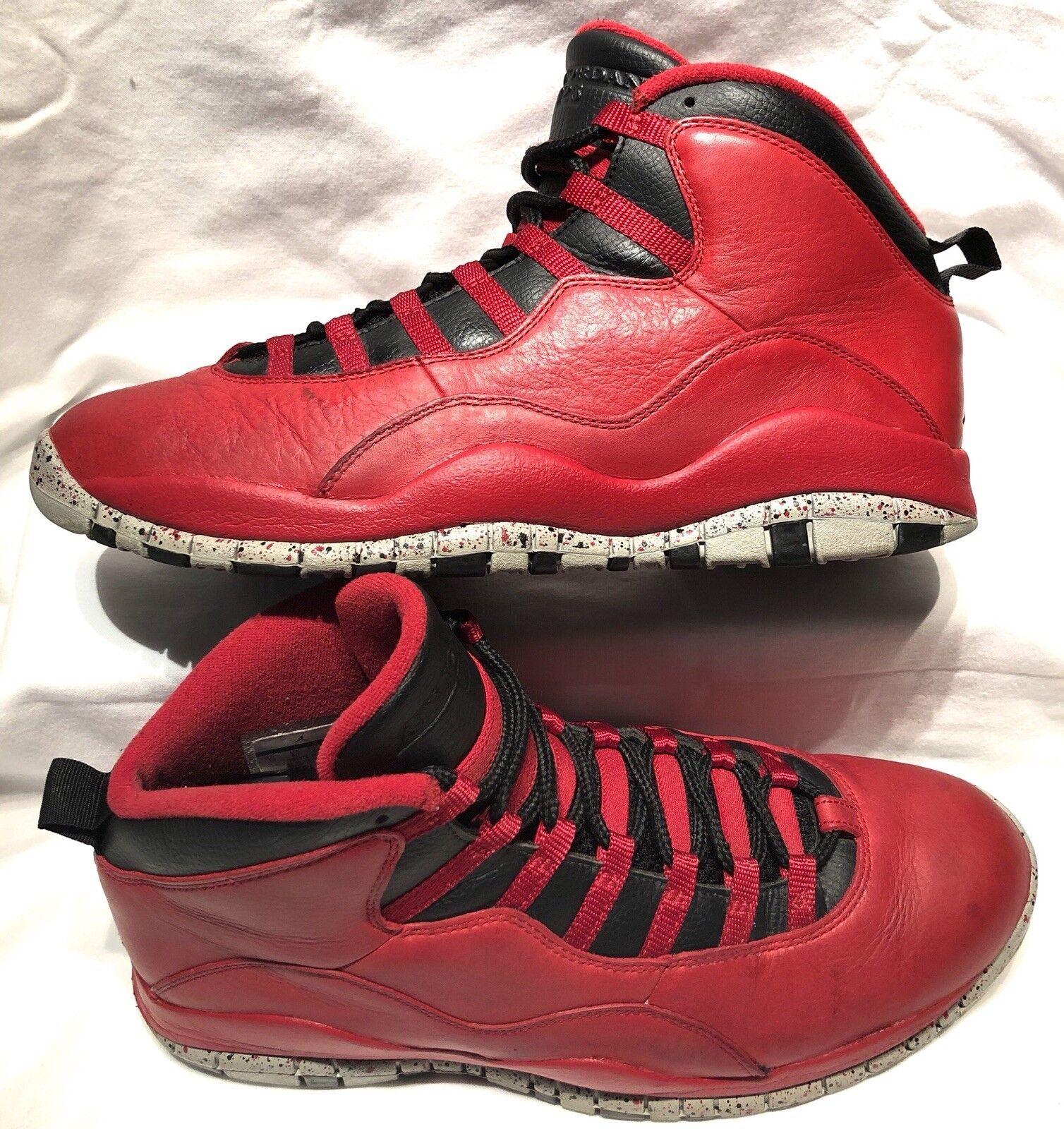 Men's Size 11 Nike Air Jordan 10 Retro 30th Bulls Over Broadway 705178-601