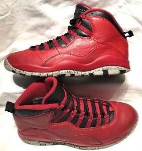 online store d563e 6ee39 Details about Men s Size 11 Nike Air Jordan 10 Retro 30th Bulls Over  Broadway 705178-601