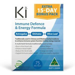 Ki Immune Defence & Energy Formula 60 + 15 Bonus Tablets (75 Total) Immunity