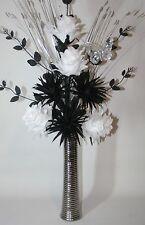 Artificial silk flowers black white dragon flower arrangement in artificial silk flowers black white flower arrangement in silver vase 75cm mightylinksfo