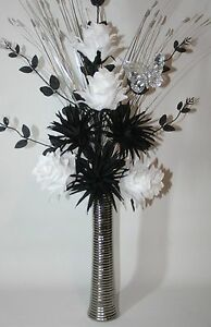 Black and white silk flowers image collections flower decoration ideas black and white fake flowers images flower decoration ideas artificial silk flowers black white flower arrangement mightylinksfo