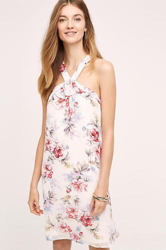 NWT Anthropologie Rosalie Swing Dress Floral By Paper Crown - Größe XS P