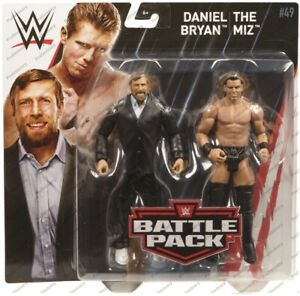 WWE-Mattel-Battle-Pack-49-Daniel-Bryan-amp-The-Miz-Wrestling-Figures