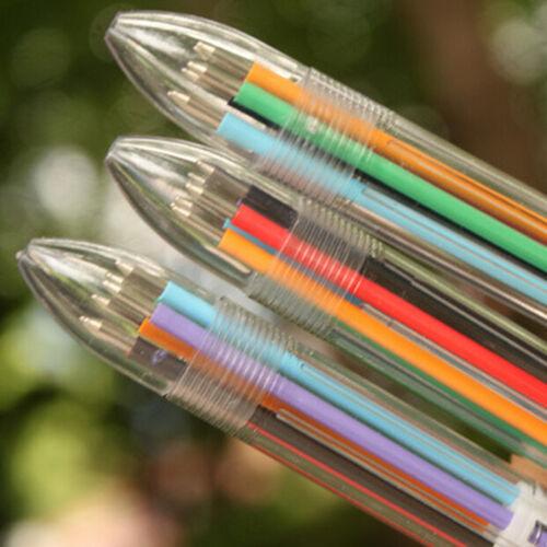 6 in 1 Farbe Kugelschreiber Mehrfarbige Kugelschreiber für Schule BürobedarfWRDE