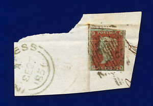 1841-SG8-1d-Red-Brown-B1-1-DE-Inverness-with-Town-Postmark-Good-Used-c-35-coye