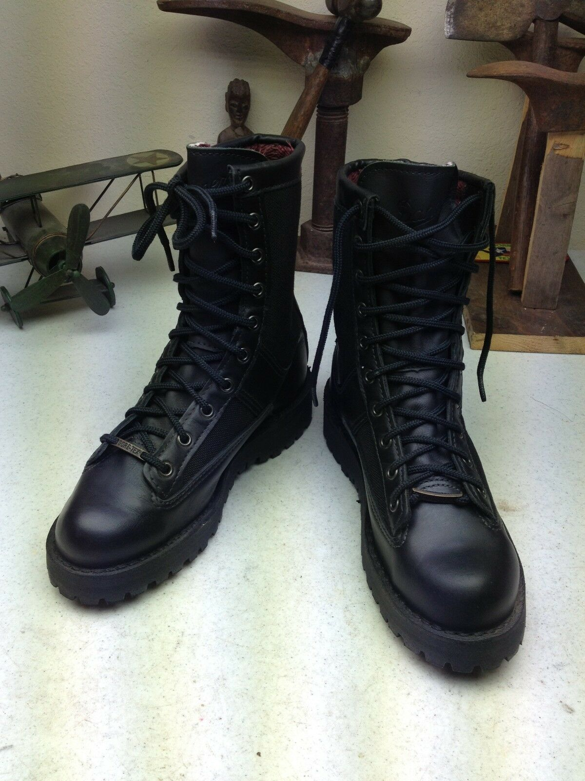 DANNER ACADIA PORTLAND OREGON USA schwarz LEATHER LEATHER LEATHER MILITARY ENGINEER WORK Stiefel 7 D 6e659d