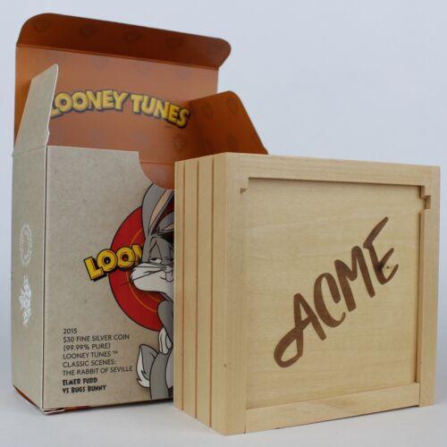 The Rabbit of Seville 2015 $30 Looney Tunes Classic Scenes 2 oz Pure Silver