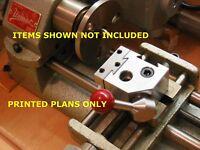 Unimat Build Your Own Plans-quick Change Tool Post Fits Unimat, Lathe, Atlas