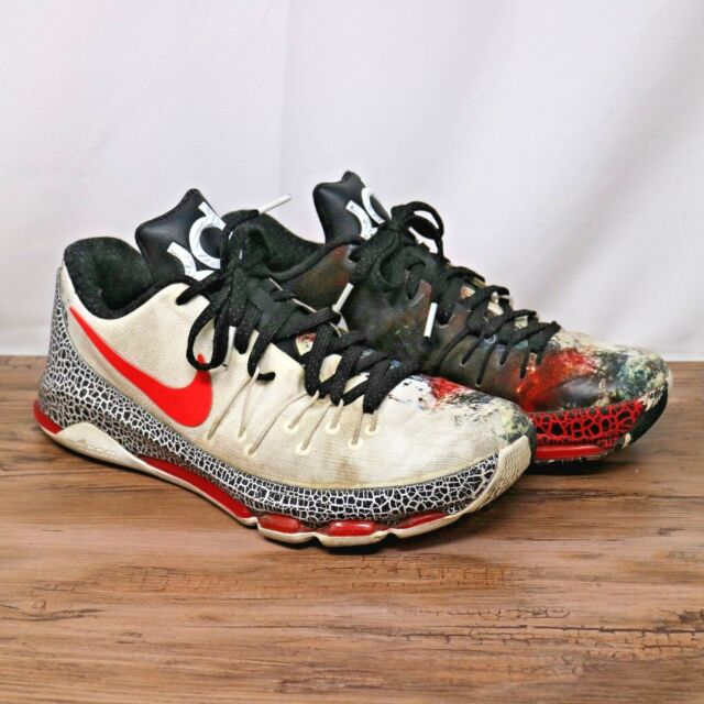 the best attitude 99d5d 98d83 Nike Mens KD 8 Xmas Christmas White Crimson Red Black Sneakers 822948-106  Sz 10