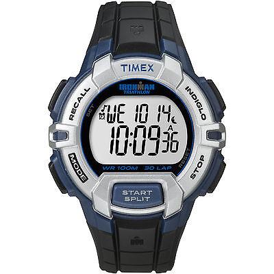 Timex Ironman Men's   30-Lap Gray Case & Black Band   Digital Watch T5K791