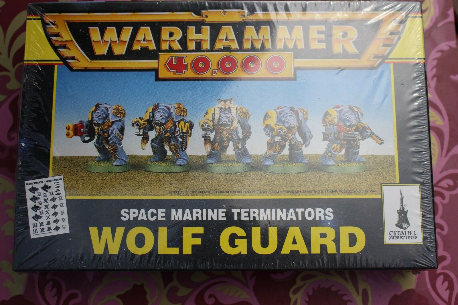 Games Workshop Warhammer Warhammer Warhammer 40k Space Wolves Wolf Guard Terminators Squad BNIB Army 4d0
