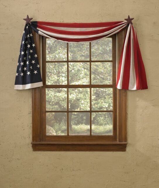 "Table Runner or Window Swag 98"" L - Flag by Park Designs - Patriotic"