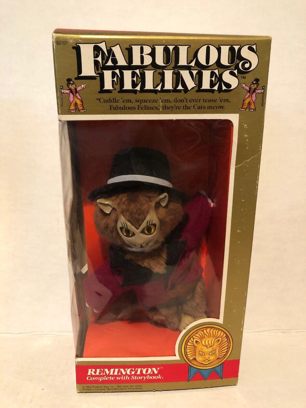 1983 Fabulous Felines Action Figure Phoenix toys cat plush Remington Hat MIB