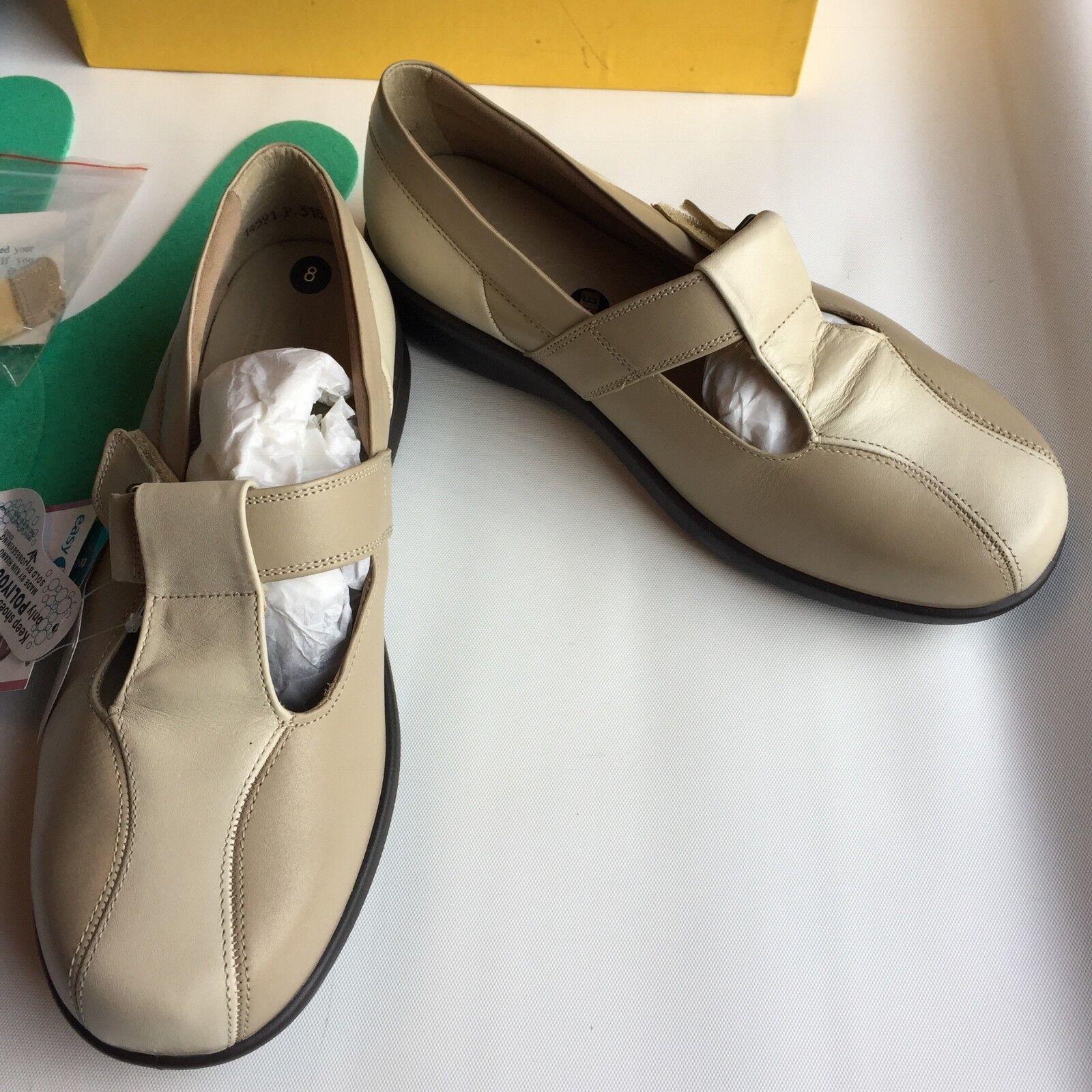 Damenschuhe Easy Schuhes B Leder Cream Beige Schuhes Easy w/Insoles, Bar Extensions Größe 8 Fit 6E 72f6bc