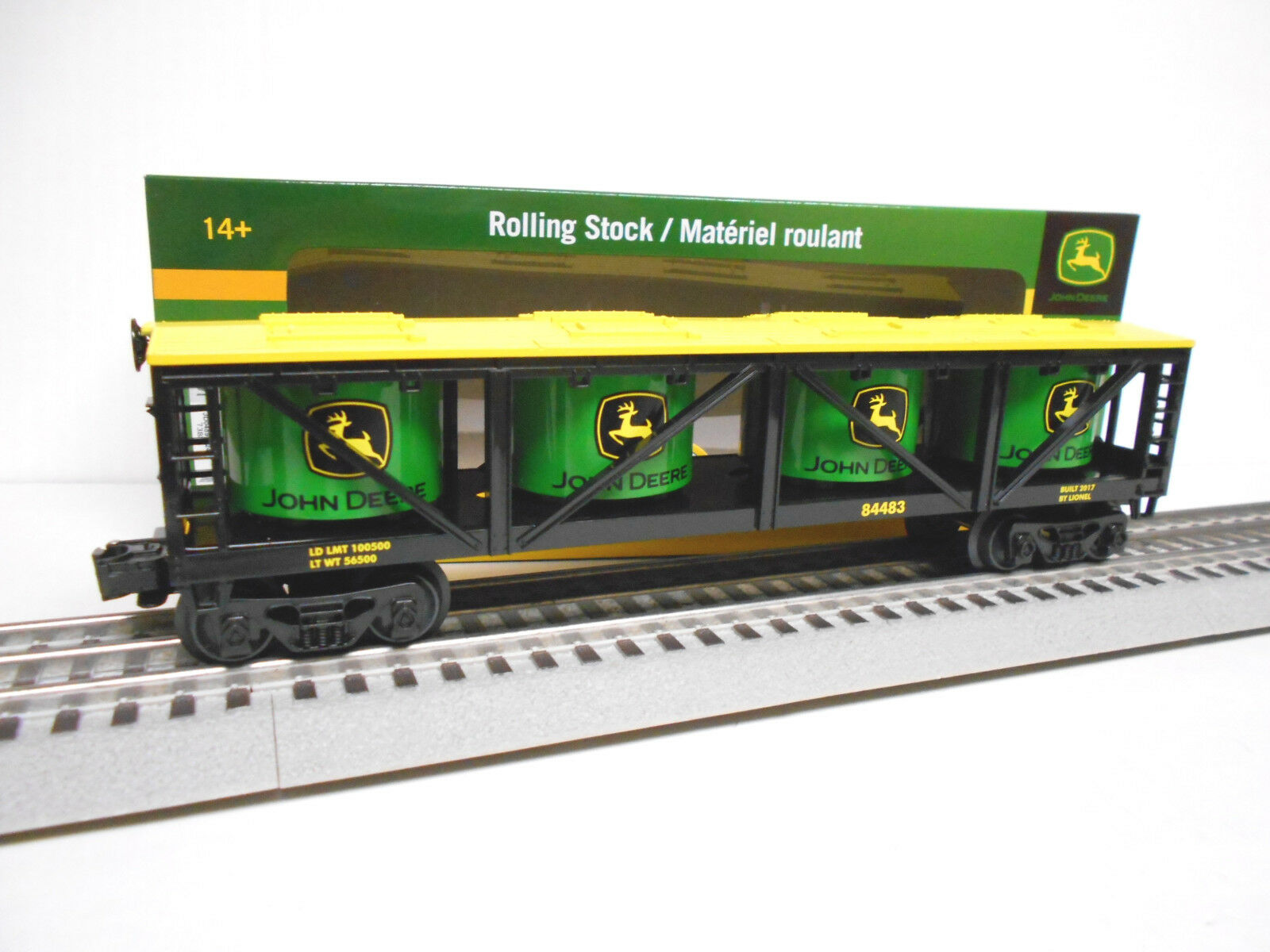 Lionel 6-84483 John Deere grano IVA coche o calibre Tren Tanque de tractor de granja molino nuevo