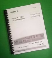 Laser Printed Sony Cx160 Digital Video Hdr Camera 143 Page Owners Manual Guide