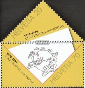 Schweiz-1690-1691-kompl-Ausg-postfrisch-1999-125-Jahre-Weltpostverein