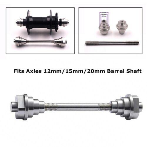 Universal Thru Axle Adaptors Wheel Fixing Truing Stand Mechanic Tool 12//15//20 mm