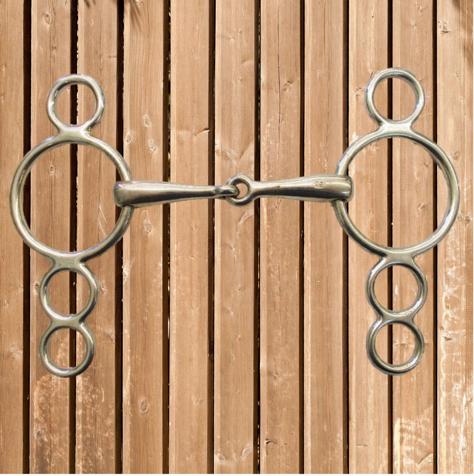 Sprenger 4 Ring Trense, Trense, Trense, Springkandare, Sprenger Kandare, Silberan, 18 mm (41307) 8575c9