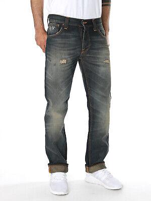 Nudie Uomo Regular Fit Jeans | Hank Rey | Organic Grey Contrasts | W30-