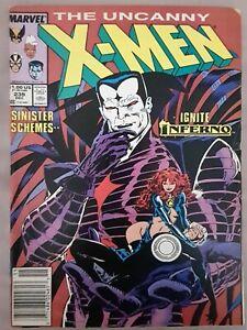 Uncanny X-Men #239 1st cover Mr. Sinister 1988 Marvel Good Condition