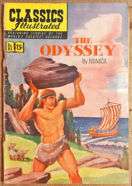 Classics Illustrated #81 (1951) - The Odyssey - LOWER Grade