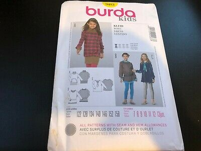 Burda Kids 9483 sewing pattern dress sizes european 122-158