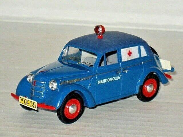 Russian 1948 Moskvitch 400-420M Ambulance Moskvich Medical Opel Kadett 1 43 USSR