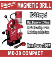 Milwaukee Md 38 Magnetic Drill Press Stand Compact Euro Plug With Us Adapter 1050w