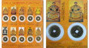 10-X-Chinsische-Monedas-con-a-Juego-10-X-Kaiser-Imagen