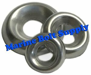 """Sizes #4 To 3//8/"""" Cup Washers 18-8 Stainless Steel Finishing Cup Washers"""