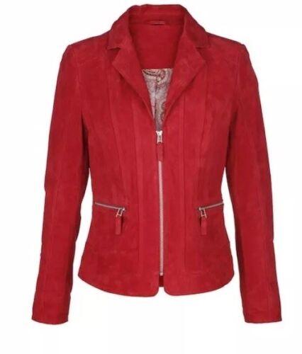 Red Size Box35 Mona Uk20r Leather Blazer Rrp£159 Ewttqv0F