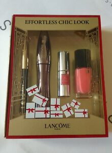 Lancome Hypnose Volume A Porter Mascara Set Effortless Chic Look Eyeliner Vernis