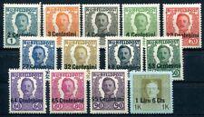 ÖSTERREICH FELDPOST ITALIEN 1918 I-XIV ** ohne V POSTFRISCH 325€(S1398