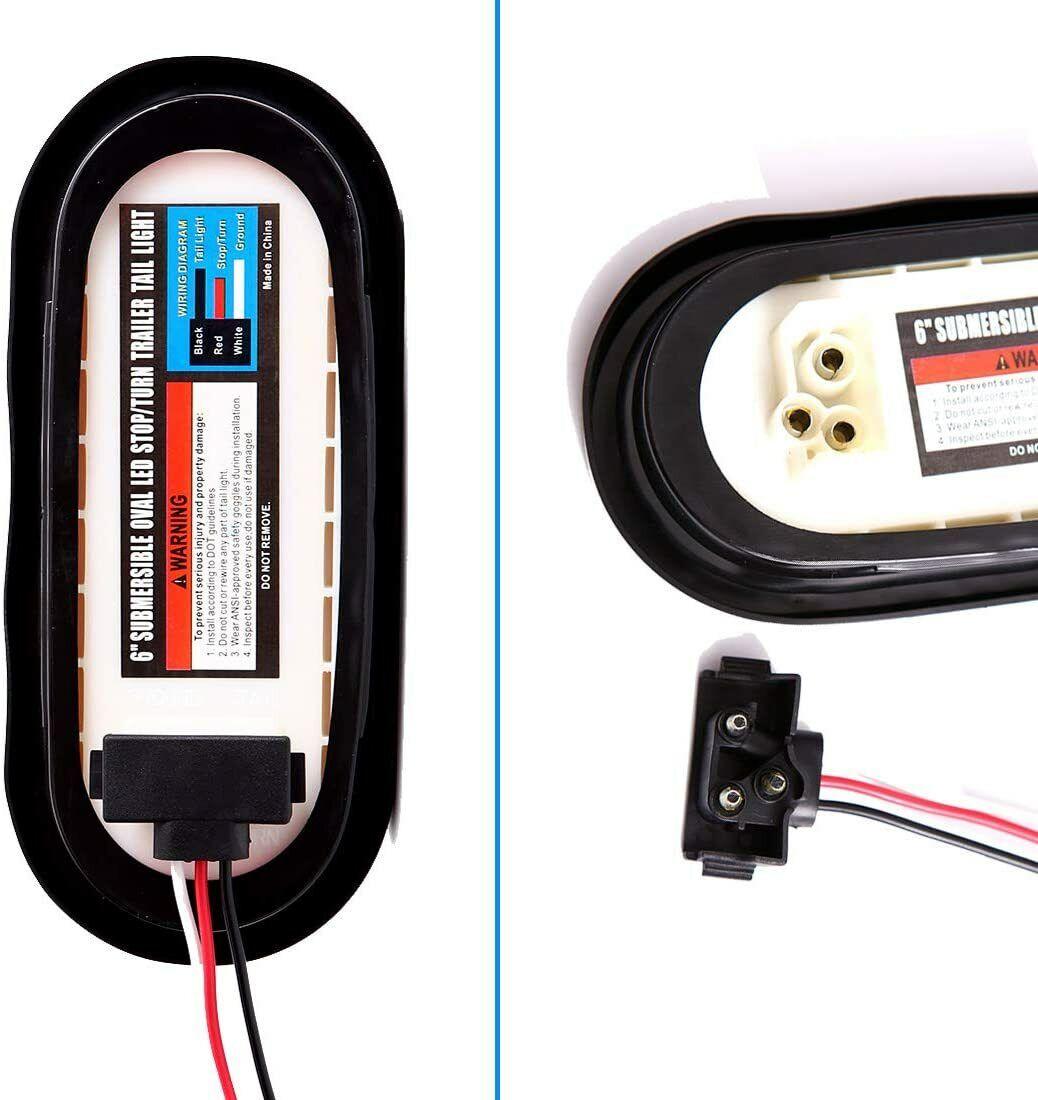 [DIAGRAM_38IU]  ProLine 12v Trailer Tail Light Kit Brake Turn Signal Utility Rv's Boat  Standard for sale online   eBay   Oval Trailer Light Wiring Diagram For 6      eBay